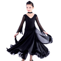 High Quality  girl's  Professional embroidery velvet Latin Dance dress Ballroom dance dress Latin Dance Dress