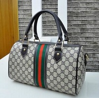 HOT SALE 2014 Fashion Copy Brand Produce Bag Boston pillow bag of mixed colors cylinder portable Women's Hand Bag