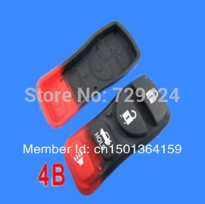 Push Button Rubber Pad For Nissan Car Keys 4 Button()