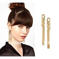 wholesale Fashion brand chunky chain tassel earring free shipping