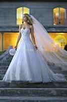 Ball Gown Fully Beaded / Sequin Lace Organza New List  Sweetheart Neckline 2014 Beach Wedding Dresses Bridal Dress Custom Made