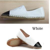 Drop/free shipping Womens fashion Design genuine leather espadrille flats shoe women shoes