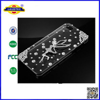 IN STOCK 5pcs/lot 2014 New Arrival Angel Crystal Fashion Design Transparent Hard Case Bumper for iPhone 6  Laudtec