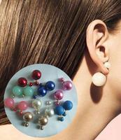 wholesale  New Fashion Designer Double faced Pear Stud earring wedding earrings
