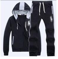 2014 Tracksuits Hoodie Moleton  Men's Zipper Cardigan Sport Suits Fashion Coats Jacket Set  Sportswear Brand Male sweatshirt