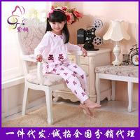 No1 Sale Minnie Mouse Cartoon 2pcs Pajamas Clothing Set Sleepwear for Girls Pajama Baby Clothing 100% Cotton New Pyjamas 2014
