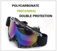 2014 New Outdoor Windproof Glasses Ski Goggles Dustproof Snow Glasses Men Motocross Riot Control Goggles Downhill 634