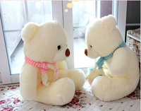 Hight Quality White Scarf Teddy Bear Soft 80 Cotton Toy Embrace Bear Doll lovers/christmas gifts birthday gift