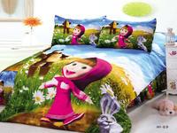 kid  fairy cartoon car bedding set 100% cotton Princess bedding  Quilt comforter cover duvet sets sheet  child bedclothes