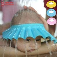 1Pcs Soft Baby Kids Children Shampoo Bath Shower Cap Adjustable Baby Shower Hat Baby Shampoo Cap Wash Hair Shield Professional