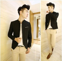 2014 Hitz Korean cultivating British style pocket stick thin men's suits coat collar small suit man