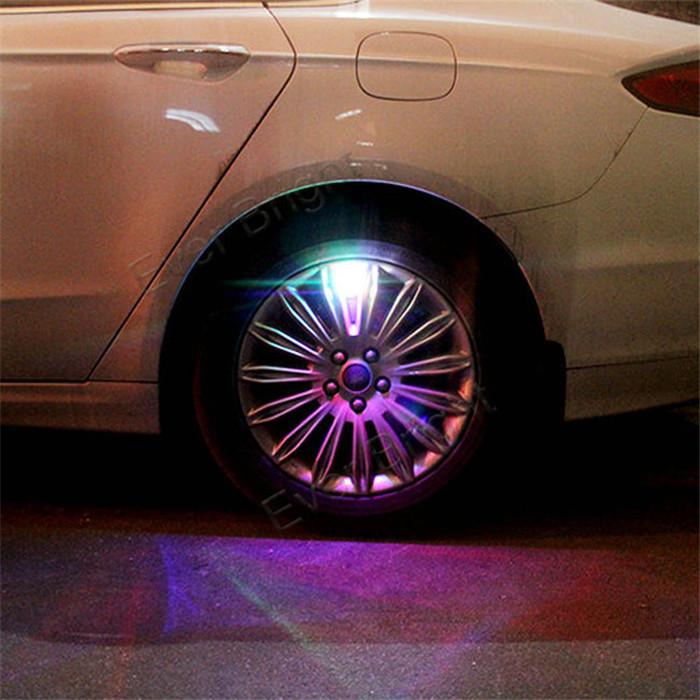 2pcs 2014 New Type Solar Power Cars Styling Wheel Tyre Tire Valve Lights Auto Marker Light LED Flash Light(China (Mainland))