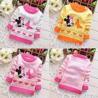 1-4 Kids Girls Boys Winter Sweater Minnie Mouse New Winter Autumn Infant Baby Cartoon Sweater Child Sweater
