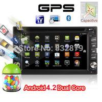 2014 New! 7 INCH Android 4.2 Car DVD player GPS Wifi 3G Bluetooth 2 DIN universal X-TRAIL Qashqai x trail juke for nissan TPMS