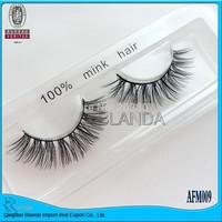 UPS Free Shipping 50pair/lot 100% real siberian mink fur false eyelash mink lashes thick fake eyelashes