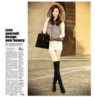Women boots 2014 autumn winter ladies fashion boots over the knee thigh high suede long boots brand designer HO871245