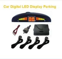 3pcs/lot Car LED Parking Sensor Kit Display 4 Sensors 22mm 5 Colors Reverse Assistance Backup Radar Monitor System