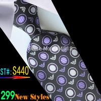 brown box 100% Silk ties Men's Ties Necktie Plaid Stripe Mans wedding Tie Neckties Wholesale #440