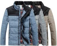 Winter Men'S Down Jacket Jaquetas Masculinas Inverno Chaquetas Hombre 2014 Casual Jacket Man Coat Winter Warm Down Jacket Brand