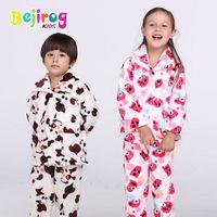 free The new Kids pajamas set children's clothing pijamas femininos inverno brand for girl/ boy sleepwear coral fleece tracksuit