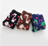 2014 New Girls love bunny cotton pants winter girl legging emoji pants warm pants kids leggings leggings for girls free shipping