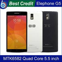 In stock Original Elephone G5 Mobile Phone 5.5 inch IPS 1280*720 MTK6582 Quad Core 1GB RAM 8GB ROM Dual Camera GPS OTG /Eva
