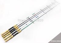 Super Deal,1.5m 5 colors 2pcs Multi-purpose Medium Light Wood spinning handle Boat lure Sea fishing rods