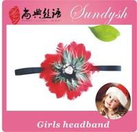 fashion christmas elastic children  feather headband