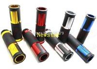 "Free shipping Brand New 7/8"" Motorcycle hand grips handlebar CNC metal rubber for Honda Yamaha Kawasaki Suzuki"