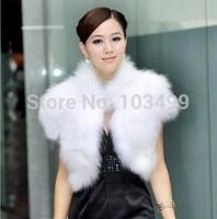 Imitation fox fur waistcoat  short paragraph leather jacket collar grass short shirt ladies vest