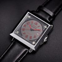 Cool Curren Square Men Analog Watches Fashion Businessmen Casual Leather Strap Wristwatch Calendar Clock Quartz Relojes NW1729