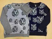 Free Shipping 100% Cotton Baby Children Boys Girls Cartoon Ti knitting Sweaters Kids Autumn Winter  Sweater 3-12Y