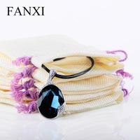 Jewelry bag jewelry bags hemp Bula Sheng unique specials linen pouch linen jewelry bag