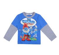 2014 autunm children tshirt kids cotton long sleeve cartoon tshirt boy top fashion wear