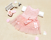 0-2 yrs Summer Lace Flower Baby Dress,Party Wedding Birthday Baby Girls Dresses,Candy Colors Princess Infant Dress