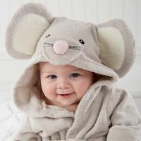 2015 new autumn and winter baby Cotton hooded bathrobe bathrobe mice single towel bathrobes