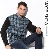Plus Size 3XL,4XL,5XL,6Xl,7XL,8XL New Autumn Shirts for Men Long Sleeve Mens Shirts Fashion 2014