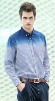 6Xl 7XL 8XL Plus Size New Brand Long-sleeved Casual T-Shirt Men Blue White Plaid Shirt Male
