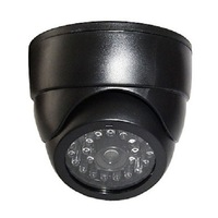 Simulated Security Dome Camera With Red LED Blinking