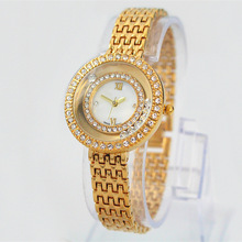 New arrived Fashion Women Wristwatch With Diamond  Gold/Silver Stainless Steel  Lady Brand watches Top brand Hot Sale Free Box