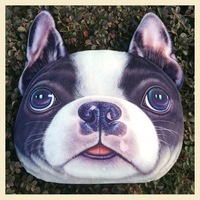 Nordic Chair Pillow Personality Car Cushion Cover Creative Handsome Border Dog  shape Nap pillow Cover Cute seat cushion