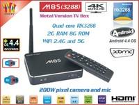 Newest M8S Android TV BOX RK3288 Quad-Core cortex-A17 Dual WiFi 2G/8G Mali-T764 GPU 4K*2K HDMI 2MP Camera & Mic