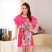 2014 Flower Cool Retro Wrap Woman Autumn Fantasy Bra Nice Sleepshirts Cute Ailanthus Silk Star Magicdream Real Brand YP1203201
