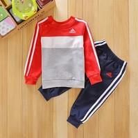 Hot Sale Spring Autumn 2pcs/set Kids Baby Suit Boys Girls Long Sleeve Shirt + Pant Sport Clothes Children Clothing Sets
