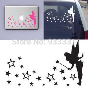 Tinkerbell FAIRY Pixie star dust wall sticker art girl nursery fridge laptop car(China (Mainland))