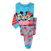 Winnie Boys Girls Pajamas Kids Children Cartoon Pyjamas Kids Homewear Sleepwears Wholesale 6sets/Lot In Stock Free Shipping