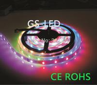 magic digital dream color rgb led strip tm1812 60leds/m 5m smd5050 dc5v.high brightness epistar led chip.ip67