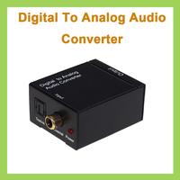 5pcs Digital Optical Coax Coaxial Toslink SPDIF to Analog RCA L/R Audio Converter Adapter