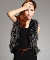 W.ZXS - Hot-Selling 2014 New Winter Women Faux Fur Slim Short Sleeveless Fur Vest Waistcoat Fashion Jacket JP09