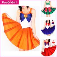 Print Sailor Moon Cosplay Costume Cute Women's Halloween Costume High-quality New Plus Size Japanese Uniform Exotic Apparel 8